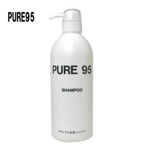 PURE95 シャンプー 800ml(弱酸性でボディソープにもなる髪に優しいシャンプー リンス不要で無香料の人気の無添加シャンプー 髪に艶とハリ 肌にやさしい)