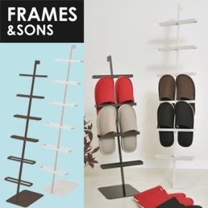 FRAMES&SONS Square スクウェア スリッパラック 6 AD02(スリッパたて/玄関/おしゃれ/収納家具/スチール/スリッパ立て/スリッパ収納/6段) メーカー直送の写真