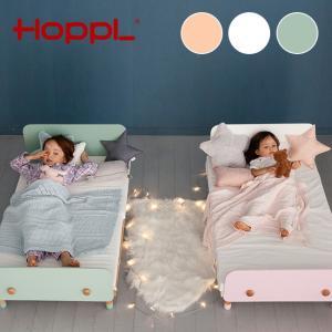 ベビーベッドのマットレスがそのまま使える、キッズサイズの木製ベッド。 ベビーベッドサイズなので、12...