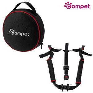 コムペット ペットラベル フィックス ブラック(ペットの車での移動や外出に便利なペット用品 小型犬のキャリーバッグやキャリーケースを車に固定)【送料無料】|kireispot