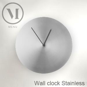 menu メニュー ウォールクロック ステンレス スチール 6068039(おしゃれなインテリアにおすすめのステンレスの壁掛け時計 北欧のデザイン)【送料無料】 kireispot