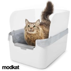 モデキャット リタートレイ TRAY100(猫 トイレ おしゃれ 猫トイレ本体 家具 猫トイレ 猫砂 砂飛び散り防止 スコップ付き) kireispot