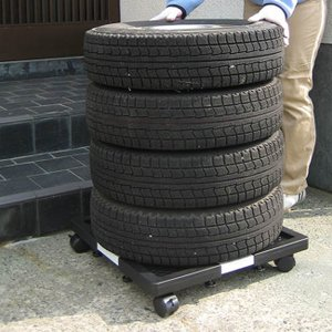 タイヤキャリー 伸縮式(タイヤ/持ち運び/サイズ調節/タイヤ置き/タイヤ交換/タイヤ保管/タイヤ収納/キャスター付き/タイヤラック/キャリー)|kireispot
