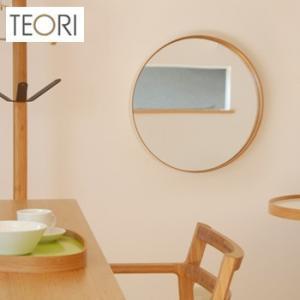 TEORI ZERO テオリ ゼロ S(ウオールミラー/竹集成材家具/おしゃれな丸型壁掛け鏡/洗面所/玄関)