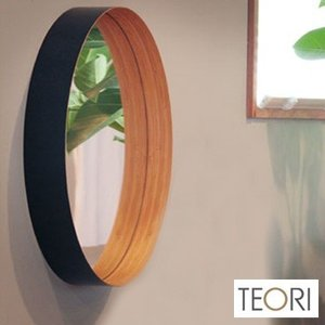 TEORI ZERO テオリ ゼロ M(ウオールミラー/竹集成材家具/おしゃれな丸型壁掛け鏡/洗面所/玄関)