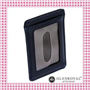 グレンロイヤル カードケース さらさら手触り フルブライドルレザー03-2997-ダークブルー/DARK BLUE kireiyasan