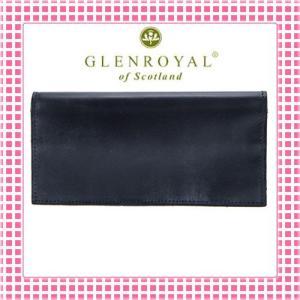 グレンロイヤル 二つ折り長財布 さらさら手触り フルブライドルレザー03-5605-ダークブルー/DARK BLUE kireiyasan