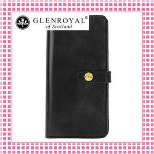 グレンロイヤル フラップ付二つ折り長財布 さらさら手触り フルブライドルレザー03-6178-黒/NEW BLACK kireiyasan