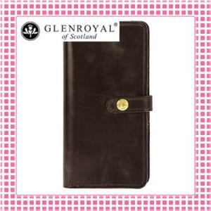 グレンロイヤル フラップ付二つ折り長財布 さらさら手触り フルブライドルレザー03-6178-ブラウン/CIGAR kireiyasan