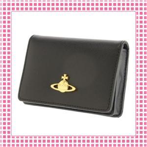 ヴィヴィアン カードケース さらさら手触りサフィアーノSAFFIANO-725-ブラック/BLACK|kireiyasan