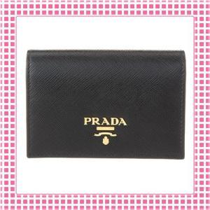 プラダ PRADA カードケース 「サラサラ」手触り サフィアーノカーフ SAFFIANO PORTAFOGLIO-1MC945-ブラック/NERO|kireiyasan