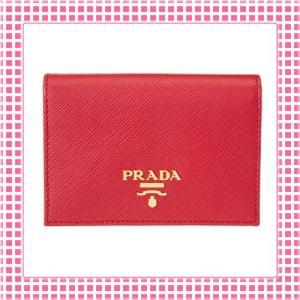プラダ PRADA カードケース 「サラサラ」手触り サフィアーノカーフ SAFFIANO PORTAFOGLIO-1MC945-レッド/ROSSO|kireiyasan