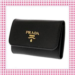 プラダ PRADA キーケース 「サラサラ」手触り サフィアーノカーフ SAFFIANO METAL-1PG222-ブラック/BLACK kireiyasan