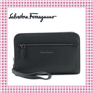 フェラガモ Ferragamo メンズセカンドバッグ型押し MENS REVIVAL-240470-ブラック(黒)|kireiyasan
