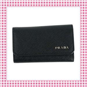 プラダ PRADA キーケース 「サラサラ」手触り サフィアーノカーフ SAFFIANO METAL-2PG222-ブラック/NERO|kireiyasan