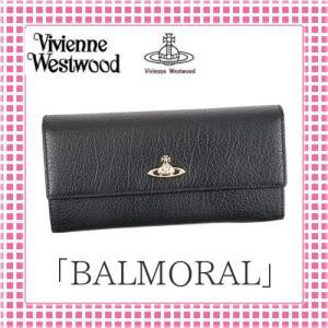 ヴィヴィアン VIVIENNE しっとり手触り 二つ折り長財布 BALMORAL-321384-ブラック/BLACK|kireiyasan