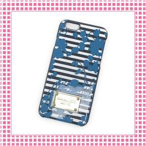 マイケルコース Michael Kors スマホケース ストライプ柄 iPhone 6/iPhone 6sケース-32S6GELL1S-ブラック/ホワイト|kireiyasan