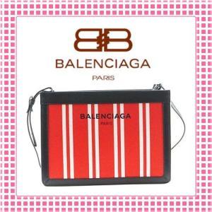 バレンシアガ BALENCIAGA カバスストライプ ショルダーバッグ-339937-レッド/ホワイト/ブラック|kireiyasan
