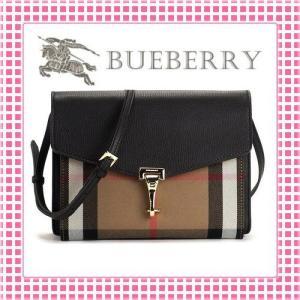 バーバリー BURBERRY ホースフェリーチェック 型押し ショルダーバッグ SMALL MACKEN CROSS BODY BAG-3980825-ブラック/トレンチ|kireiyasan