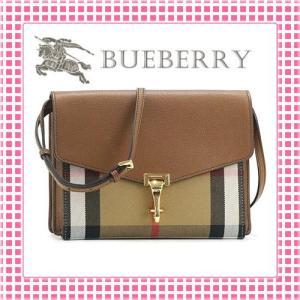 バーバリー BURBERRY ホースフェリーチェック 型押し ショルダーバッグ SMALL MACKEN CROSS BODY BAG-3980826-ブラウン/トレンチ|kireiyasan