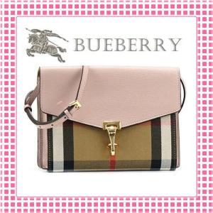 バーバリー BURBERRY ホースフェリーチェック 型押し ショルダーバッグ SMALL MACKEN CROSS BODY BAG-3997187-ベビーピンク/トレンチ|kireiyasan