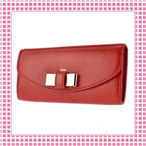 クロエ CHLOE 二つ折り長財布 リリーLILLY-3P0498-クレイ/レッド系|kireiyasan