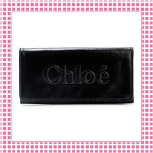 クロエ CHLOE 二つ折り長財布 羊革 シャドウ SHADOW RACHEL-3P0321-ブラック|kireiyasan