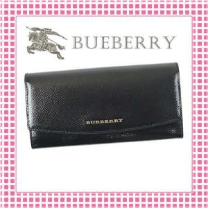 バーバリー BURBERRY 二つ折り長財布 レディース ロンドンレザーPORTER-4023460-ブラック/BLACK|kireiyasan