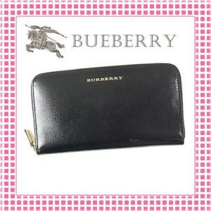 バーバリー BURBERRY ラウンドファスナー長財布 レディース ロンドンレザーELMORE-4023463-ブラック/BLACK|kireiyasan
