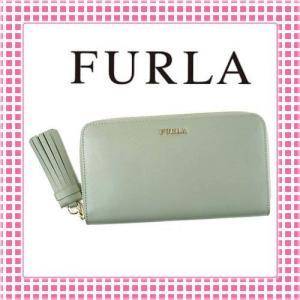 フルラ ラウンドファスナー長財布 滑らかカーフ フリンジチャーム EMMA-851471-PQ99-モスグリーン/AGAVE|kireiyasan