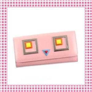 フェンディ FENDI 二つ折り 長財布 ロボットモンスターモチーフ-8M0251-ライトピンク/ROSA|kireiyasan
