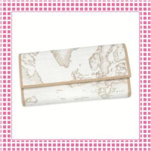 プリマクラッセ PRIMACLASSE 二つ折り長財布 カラバリ3色 地図柄GEOCLASSIC-CW018-ホワイト|kireiyasan