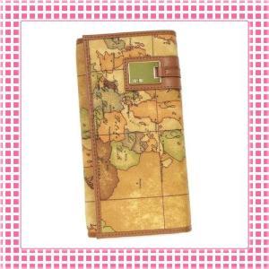 プリマクラッセ PRIMACLASSE 二つ折り長財布 カラバリ3色 地図柄GEOCLASSIC-CW026-キャメルブラウン|kireiyasan