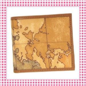 プリマクラッセ PRIMACLASSE コンパクト二つ折り財布 地図柄 GEO CLASSIC CW103-キャメル ブラウン|kireiyasan