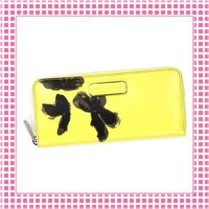マークバイマークジェイコブス PVC加工滑らかレザー ファスナー長財布-M0006614-レモンイエロー|kireiyasan