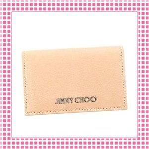 ジミーチュウ JIMMY CHOO カードケース 滑らか 山羊革レザーGOAT LEATHER-NELLO-ライトピンク系/BALLET PINK|kireiyasan