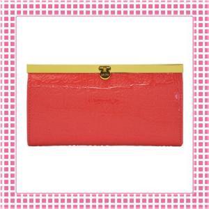 フォリフォリ FolliFollie 長財布 カラバリ4色 がま口タイプ ロゴ型押し-WA0L028S-オレンジレッド|kireiyasan
