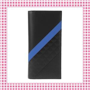 アルマーニ EMPORIO ARMANI カラバリ3色 二つ折り長財布 MINORCA STRIPES SPECIAL-YEM474-ブラック/ブルーストライプ kireiyasan
