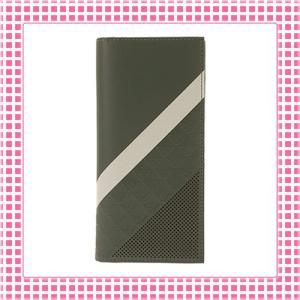 アルマーニ EMPORIO ARMANI カラバリ3色 二つ折り長財布 MINORCA STRIPES SPECIAL-YEM474-オリーブグリーン/ベージュストライプ kireiyasan