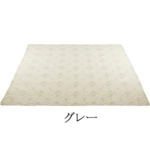 光沢のある刺繍が綺麗なキルト アクワー 200×200cm キルトマルチカバー 正方形(約2畳サイズ)  ホットカーペットカバー こたつの上掛けにも◎ kirikiri 04