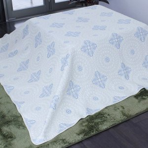光沢のある刺繍が綺麗なキルト アクワー 200×200cm キルトマルチカバー 正方形(約2畳サイズ)  ホットカーペットカバー こたつの上掛けにも◎ kirikiri 07