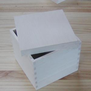 ギフト用 木箱 4寸(121×121×121) kirikougei01