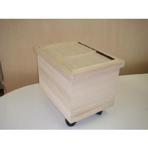 桐製米びつ 10kg(キャスター付)|kirikougei01