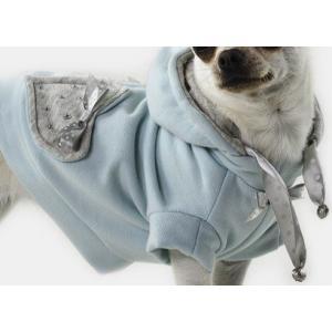 セレブ犬服 Sparkling Dog My love sweatshirt (light blue)  イタリア製|kirinclub
