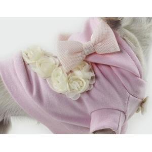 犬服 セレブ犬服 Sparkling Dog Romance Sweatshirt (pink) フードとリボンは取り外しができます。 イタリア製|kirinclub
