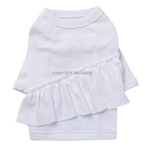 犬服,おしゃれ服 Louis Dog ルイスドッグ  Fussy Shirts カラーはWhite 長袖|kirinclub