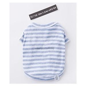 犬服トップス Louisdog ルイスドッグ Lazy Shirts  カラーBlue Stripe|kirinclub