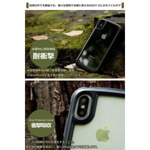 ROOT CO.iPhoneX iPhoneXS バンパータイプ 耐衝撃 カバー Gravity S...