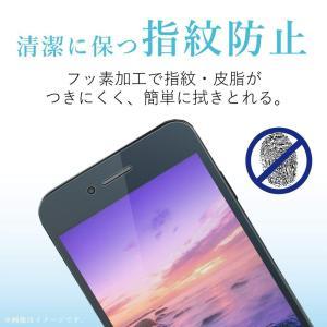 エレコム iPhone8 フィルム フルカバー 衝撃吸収 スムースタッチ 指紋防止 透明 iPhon...