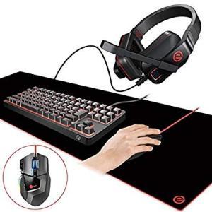 エレコム ゲーミングセット メカニカルキーボード&13ボタンマウス&超大型マウスパッ...